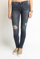 Blank Knee Rip Dark Skinny Jeans