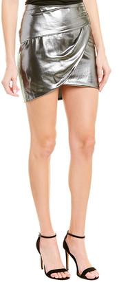 Mason by Michelle Mason Gathered Silk-Lined Mini Skirt