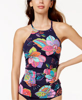 Anne Cole Cactus Floral-Print High-Neck Tankini Top