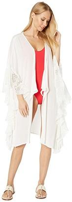 O'Neill Rosaleen Kimono Cover-Up (Vanilla) Women's Swimwear