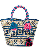 Yosuzi Manya woven tote with pouch - women - Straw - One Size