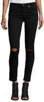 7 For All Mankind The Ankle Skinny Ripped Jeans, B[Air] Black