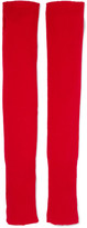The Elder Statesman Wool And Cashmere-blend Arm Warmers - Red