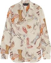 Rochas Printed silk crepe de chine shirt