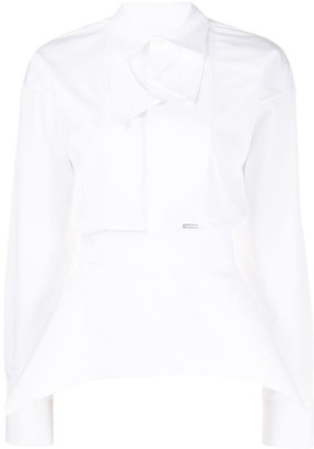 DSQUARED2 structured long-sleeved shirt
