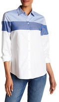 Foxcroft Long Sleeve Colorblock Shirt