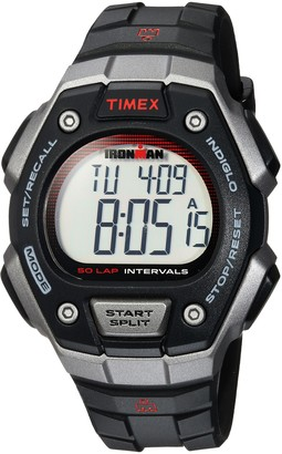 Timex Men's TW5K85900 Ironman Classic 50 Full-Size Black/Gray/Red Resin Strap Watch