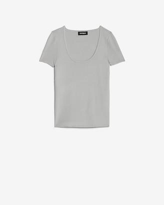 Express Scoop Neck Short Sleeve Sweater