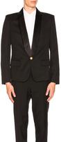 Balmain 1 Button Blazer in Black.