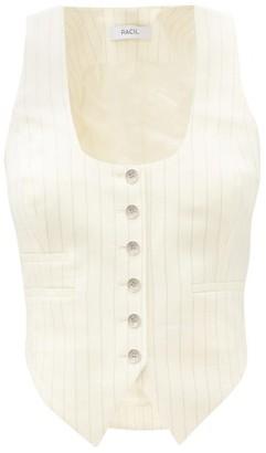 Racil Nadia Pinstriped Wool-blend Waistcoat - Ivory