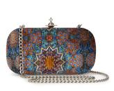 Vivienne Westwood Parma Clutch Viscose/Silk Bag in Blue/Orange