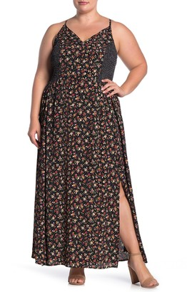 Angie Smocked Racerback Maxi Dress (Plus Size)