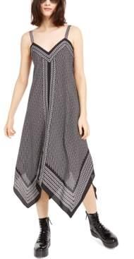 Michael Kors Michael Border-Print Handkerchief Hem Sleeveless Dress, Regular & Petite Sizes