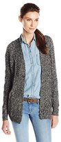 Leo & Nicole Women's Missy Open Cardigan Sweater with Cable