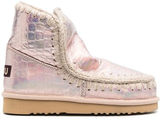 Mou Croco-Embossed Boots