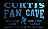 AdvPro Name td111-b Curtis Basketball Fan Cave Man Room Bar Beer Neon Light Sign