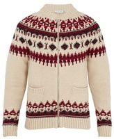 Alexander Mcqueen Fair Isle Zip-through Wool-blend Cardigan