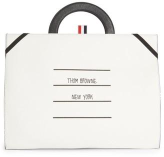 Thom Browne TBNY Label Leather Flat Folio