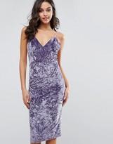 Club L Crushed Velvet Midi Dress