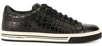 Dolce & Gabbana Roma crocodile leather sneakers