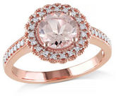 Concerto 0.125 TCW Diamond and 1.16 TCW Morganite Halo Ring
