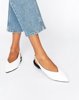 Asos LYCHEE Slingback Pointed Ballet Flats