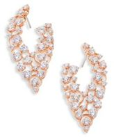 Adriana Orsini Caspian Crystal Front-Back Hoop Earrings