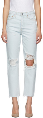 GRLFRND Blue Mica Crop Jeans