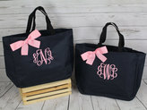 Etsy 13 wedding party tote bags, bridesmaid wedding gifts, wedding tote bag, personalized wedding bag, br