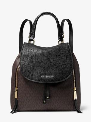 MICHAEL Michael Kors Viv Large Logo and Leather Backpack