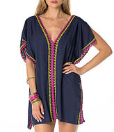 Becca by Rebecca Virtue Scenic Route Crochet Tunic Cover-Up