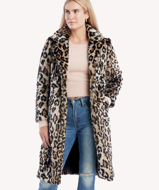 Vince Camuto Women's Cheetah Fur Notch Collar Button Jacket In Color: Rich Black Size XS From Sole Society