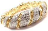 Tiffany & Co. Diamond Wide Yellow Gold Bangle Bracelet