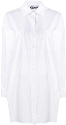 Moschino Logo-Print Long-Sleeve Shirt