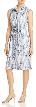 T Tahari Snake Print Shirt Dress