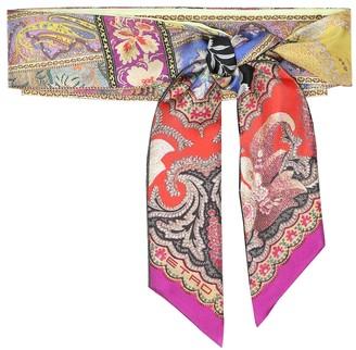Etro Floral silk-faille scarf