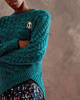 Ted Baker Cable knit wool wrap jumper