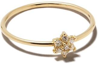 Zoë Chicco 14kt Yellow Gold Diamond Flower Ring