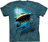The Mountain Blue Green Sea Turtle Sublimated Tee - Toddler & Kids
