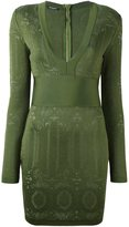 Balmain knit panel mini dress - women - Polyamide/Viscose - 40