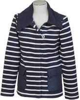 Nautica Striped Shawl Collar Fleece Jacket