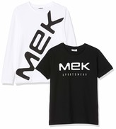 MEK Boys T-Shirt Jersey Con Grafica Long Sleeve Top