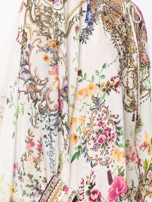 Camilla Floral-Print Long-Sleeve Blouse