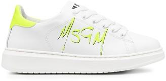 MSGM Grafitti Logo Lace-Up Sneakers