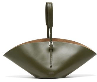 Jil Sander Sombrero Small Leather Tote Bag - Womens - Khaki