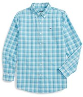 Vineyard Vines Boy's Point Plaid Cotton Shirt