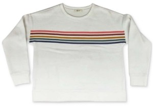 Style&Co. Style & Co Petite Rainbow-Striped Top, Created for Macy's