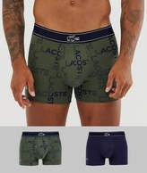 Lacoste 2 pack Colours Millennials Print trunks-Multi