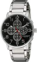 Akribos XXIV Men's AK810SSB Analog Display Japanese Quartz Silver Watch
