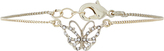 Accessorize Diamante Butterfly Clasp Bracelet